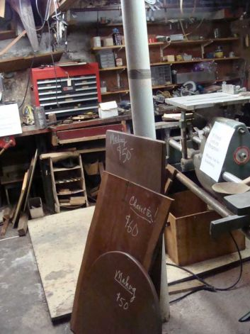 A view of Andy Rooney's workshop photo by Meg Barone / Westport News freelance