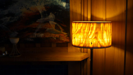 woodturning a lampshade
