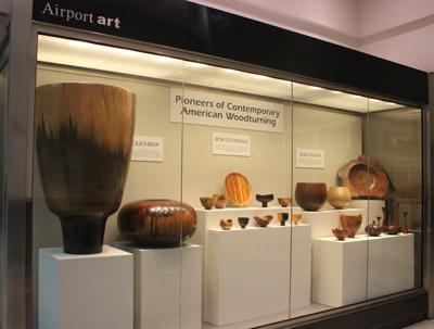 Woodturning Display At Atlanta Airport