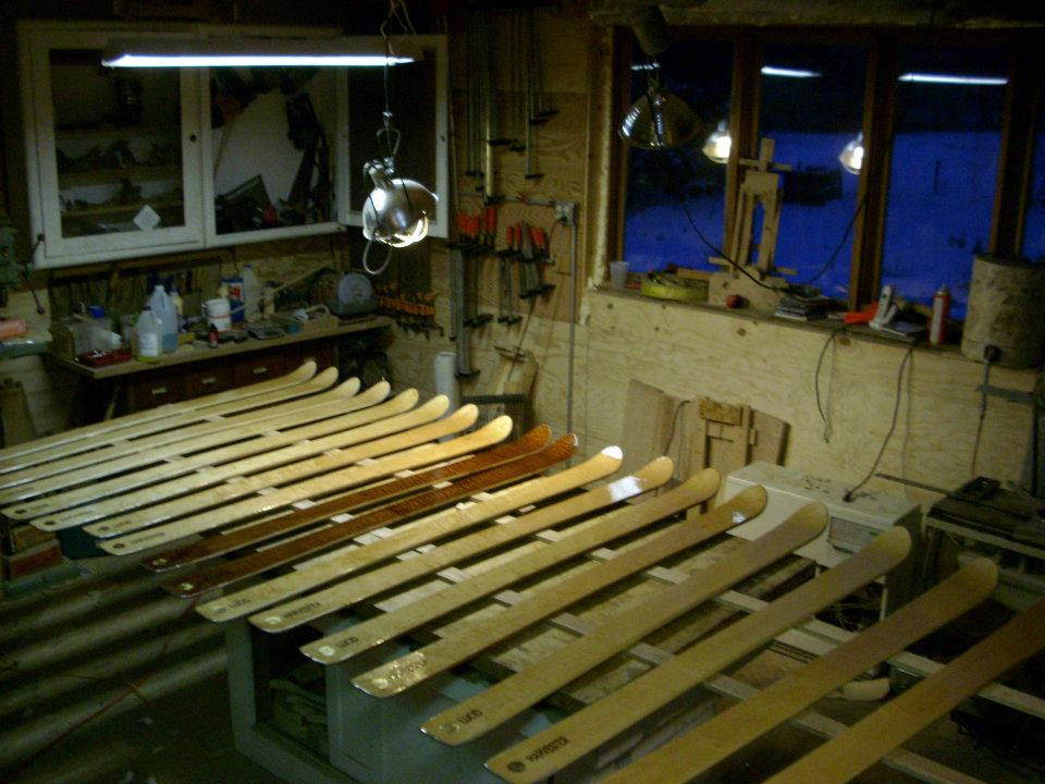 Maine Woodworker Hand Crafting Wooden Skis